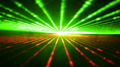 Laser: The beam is a thousand billion times brighter than the sun.