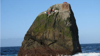 Rockall: Uninhabited outcrop was claimed by the UK in 1955 (file pic).