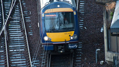 Fatal incident: Woman hit by train.