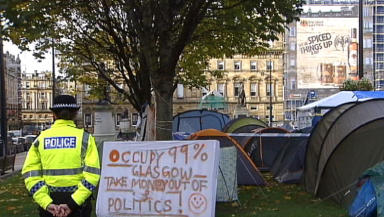 George Square: Protesters ordered to leave the camp.