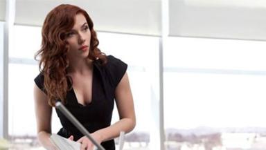 Filming: Scarlett Johansson in Scotland for new movie.