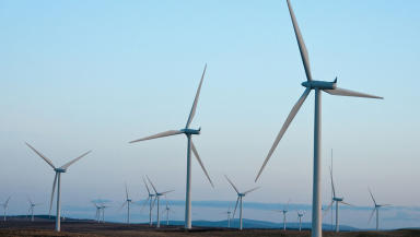 Wind Turbines: First two activated at Brora windfarm.
