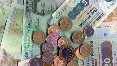 Wage: The living wage in Scotland is now £8.45.