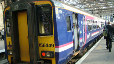 ScotRail: Trains are running a reduced service.