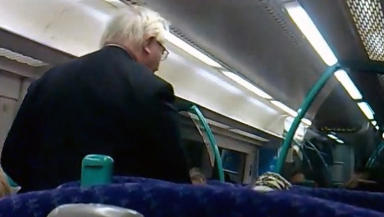 Clip: The ticket collector confronts the fare dodger before the intervention of the Big Man.