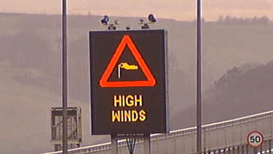 High winds: Several parts of Scotland have been placed on an amber warning.