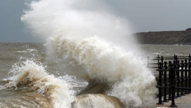 Stormy seas: Wednesday warning of winds.