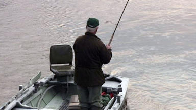 Angler: River Tay practices catch and release programme.