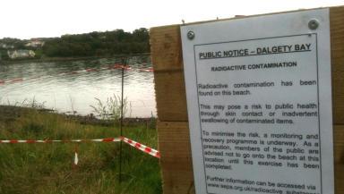 Concern: Radioactive material has been found at Dalgety Bay.