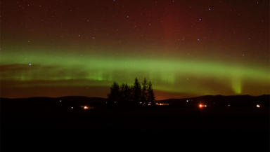 Northern Lights: As seen in Alford in Aberdeenshire