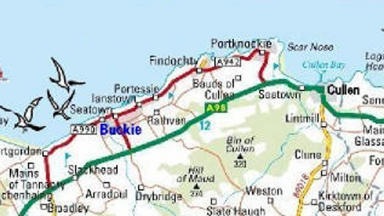The walk takes in six harbours between Portsoy and Buckie