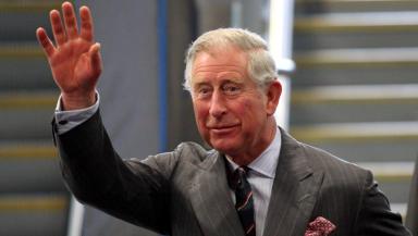 Prince Charles arrives at Waverley Duke of Rothesay.