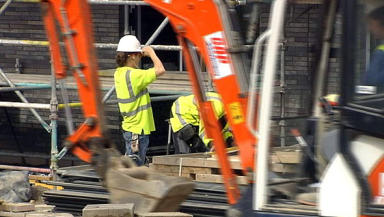 Construction: Contributes £21.5bn to Scotland's GDP (file pic).