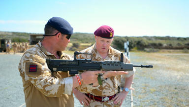 Tony Banks: Former paratrooper on exercise in Cyprus.