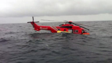 Ditched Super Puma EC225 helicopter in North Sea