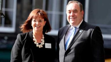 Elish Angiolini QC and First Minister Alex Salmond. Quality image.