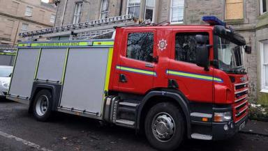 Fire engine Lothians. Quality image.