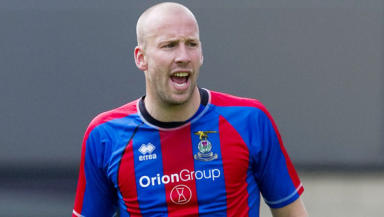 Ross Tokely in action for Inverness.