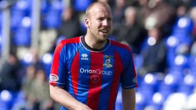Ross Tokely in action for Inverness Caledonian Thistle.