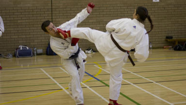 Generic picture of karate taken at Swansea University. Quality image.