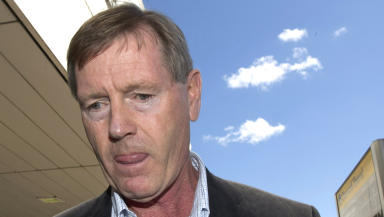 Dave King, Rangers director, arriving at Glasgow Airport.