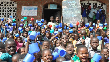 Mary's Meals: Pupils in Malawi thank nine-year-old blogger Martha Payne who helped raise £85,000 for the charity.