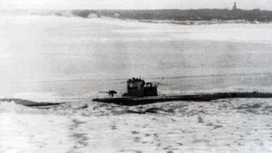 World War Two Nazi Germany U-boat U-365 type VIIC submarine at sea