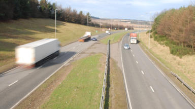 A90: Road closed in both directions (file pic).