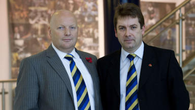 SFL President Jim Ballantyne and chief executive David Longmuir.