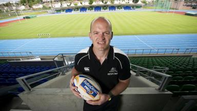 Glasgow Warriors head coach Gregor Townsend at Scotstoun Stadium.