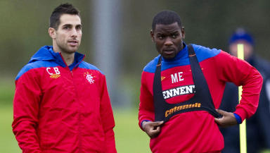 Rangers' Carlos Bocanegra (left) and Maurice Edu.