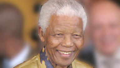 Nelson Mandela, South African politician, in 2008.
