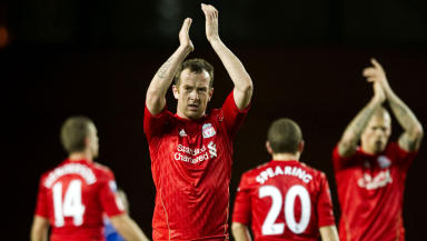 Charlie Adam playing for Liverpool against Rangers in 2012.