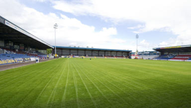 Victoria Park, home of Ross County football club, pictured in July 2012.