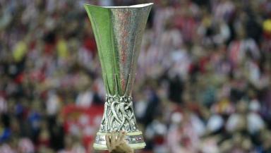 The Europa League trophy in 2012.