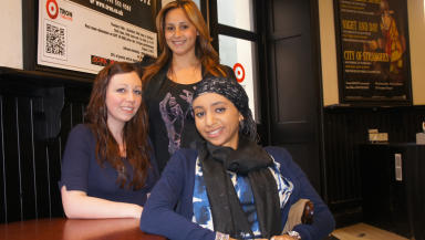 The Glasgow girls asylum seeker dawn raid campaigners Emma Clifford Agnesa Murselaj, Amal Azzudin