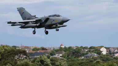 Tornado jet over Lossiemouth