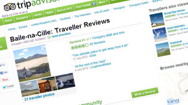 Trip Advisor website