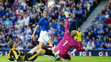 Dean Shiels scores against East Fife.