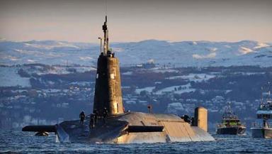 HMS Vanguard Royal Navy Trident missile submarine quality image