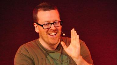Frankie Boyle is filming a new TV show.