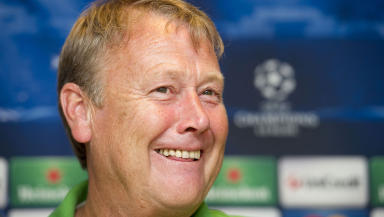 Helsingborg caretaker manager Age Hareide before his side's game with Celtic in August 2012.