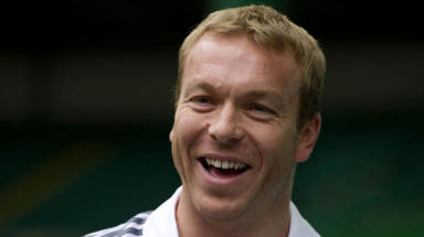 Crash: Sir Chris Hoy.