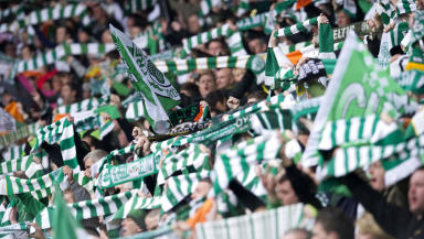 Celtic fans GV.