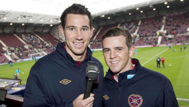 Hearts pair Ryan McGowan and David Templeton (right).