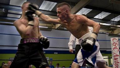 In action: Iain Butcher will be fighting on October 6