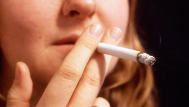 Smoking: The campaign targets young people.