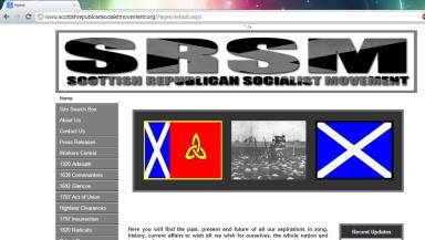 Scottish Socialist Republican Movement website grab