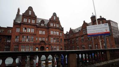 Sick Kids Hospital in Edinburgh.