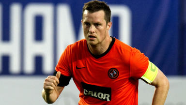 Jon Daly in action for Dundee Utd.